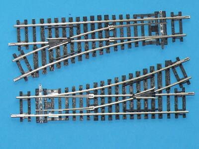 2 x NEW HORNBY R8072 DIGITAL LEFT HAND POINTS with CLIPS R8232 NICKEL SILVER