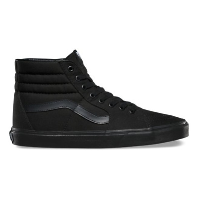 VANS SK8 HI Mens Womens All Black Canvas Lace Up High Top