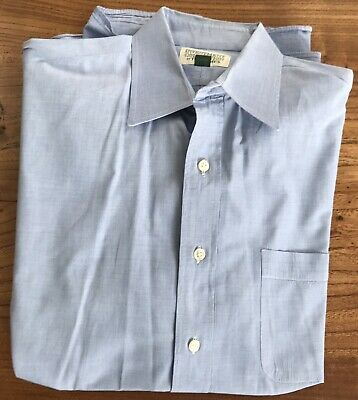 Tom James Men Blue Dress Shirt 15 1/2 - 36 Investment Collection Long Sleeve