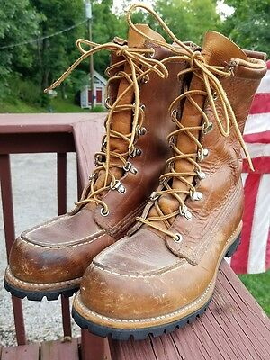 1ff148f38b4e6 VINTAGE RED WING Irish Setter Sport Boots Leather Work Hunting Boots Mens  7-1/2A