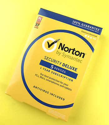 Norton by Symantec Security Deluxe | 5 Devices | 1 Year Subscription #1322
