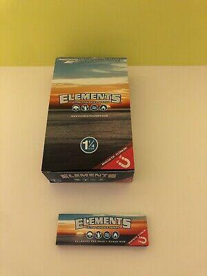 Elements 1 1/4 Size Ultra Thin Rice Rolling Paper - 1 Pack/50 Papers with magnet