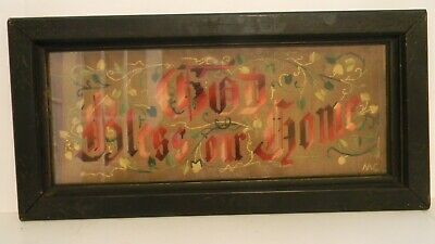 Framed Antique Paper Punch Motto Sampler