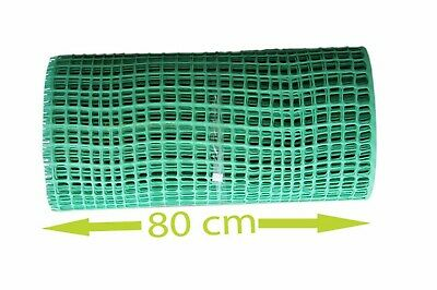 80 cm Green Plastic Mesh 30mm x 30mm Fencing Garden Animals Fence  Border Net