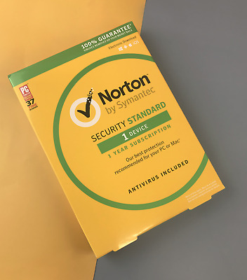 Norton By Symantec Security Standard 1 Device Antivirus for PC or Mac #2855