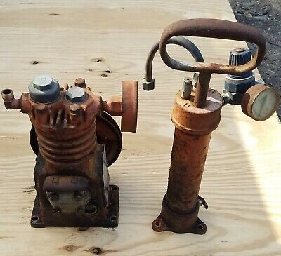 Vintage Devilbiss Air Compressor Head and Pipe / Tank No Motor NC 120