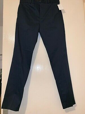 Mens H&M Premium Cotton Trousers Chinos Skinny Fit UK Size 33R EU 48 Us 33R New