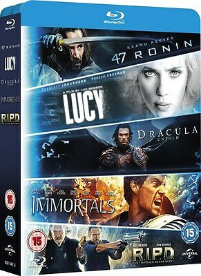Blu-ray Pack - Lucy, Dracula Untold, 47 Ronin , Immortals, R.I.P.D *BRAND NEW*
