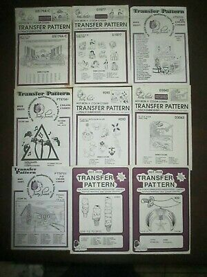 Pretty Punch Embroidery Iron-on Transfer Patterns Lot of 9 Variety