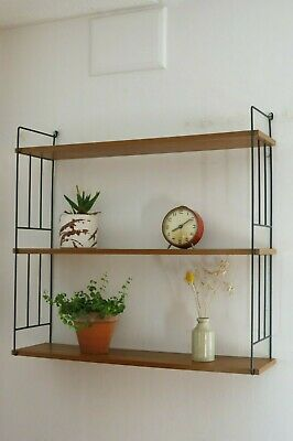 Other Vintage Mid Century String Shelving Unit 20th Century Shelves