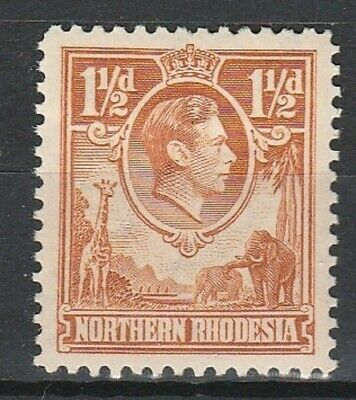 1941 NORTHERN RHODESIA 1.1/2d YELLOW /BROWN DEFINITIVES SG 30 L/M/MINT