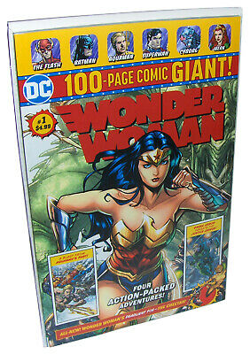 WONDER WOMAN #1 DC Comics 100 Page Comic Giant, Batman Superman Flash Aquaman NM
