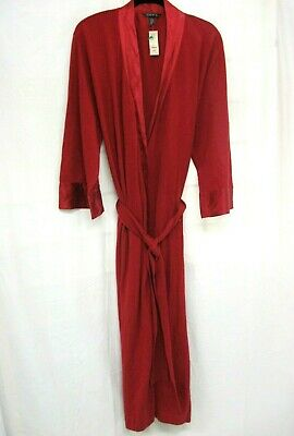 99086a726d Nwt Soma By Chico s Red Silk Blend Long Robe Size 2 So Luxe Msrp  168 Silk