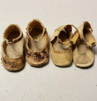 2  lot single strap snap on  baby or doll shoes  #1811