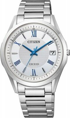 Citizen Watch Exceed Eco-Drive Radio Clock AS7090-85A Men New Fast Shipping