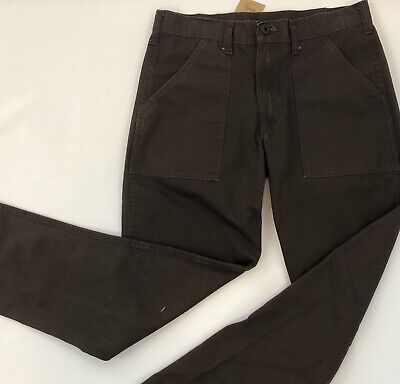 Stan Ray #1319 Chocolate Brn Washed 100% Ctn Rip Stop 4 Pkt Fatigue Made In USA