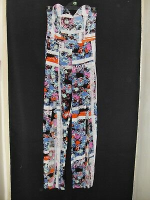 1990's Vintage Strapless Jumpsuit with Boned Bodice & Slits in Legs.