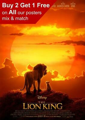 The Lion King 2019 Movie Poster A5 A4 A3 A2 A1