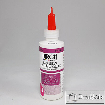 BIRCH - No Sew Fabric Glue - 118ml - Suitable for most fabrics.