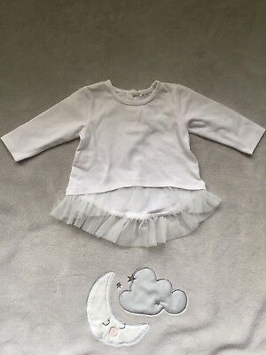 Baby baby long sleeve white top lace finish 0-3 Months size 000