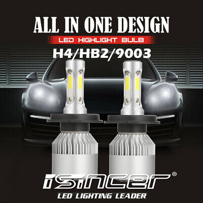 2x CREE H4 LED Headlight Kit 9003 1500W 225000LM Hi/Low Beam Bulb 6000K Light US
