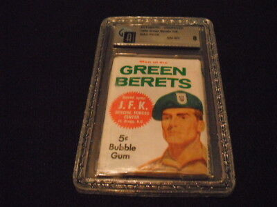 1966 Men of the Green Berets Wax Pack NM-MT Graded 8 Card Unused Unopened