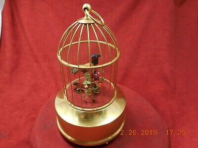 Singing Bird Cage Vintage Karl Griesbaum West German Professionally Restored