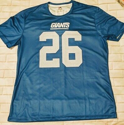 26d958980 Saquon Barkley New York Giants Majestic Eligible Receiver Name   Number  T-Shirt