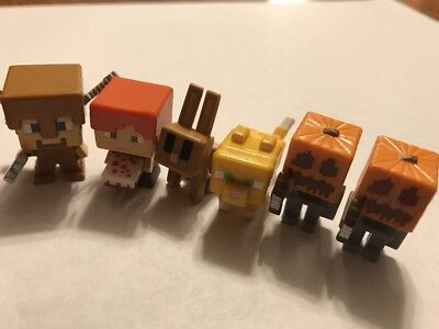 MINECRAFT MINI FIGURES SERIES 4 OBSIDIAN BLIND RANDOMLY SELECTED LOTS NEW #2385
