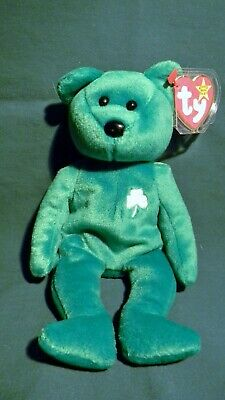 Erin Ty Beanie Baby Bear Retired All Tags Never Used St Patricks Day Irish 716ce423177a