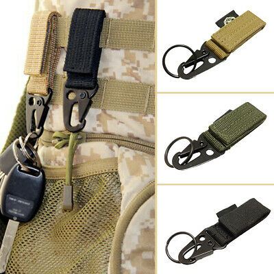 Outdoor Tactical Nylon Belt Carabiner Key Holder Bag Hook Web Buckle Strap Clip