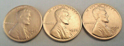1950 P D S Lincoln Wheat Cent / Penny Coin Set  *FINE OR BETTER* *FREE SHIPPING*