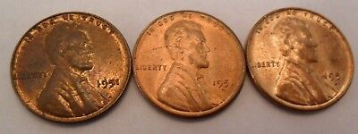 1951 P D S Lincoln Wheat Cent / Penny Coin Set  *FINE OR BETTER* *FREE SHIPPING*