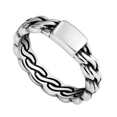 Women's Stainless Steel Celtic Knot Ring Finger Band Jewelry Fashion-FQ