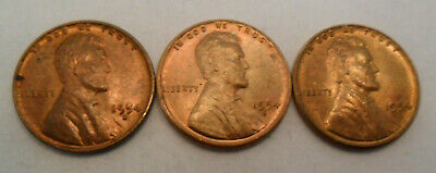 1954 P D S Lincoln Wheat Cent / Penny Coin Set  *FINE OR BETTER* *FREE SHIPPING*