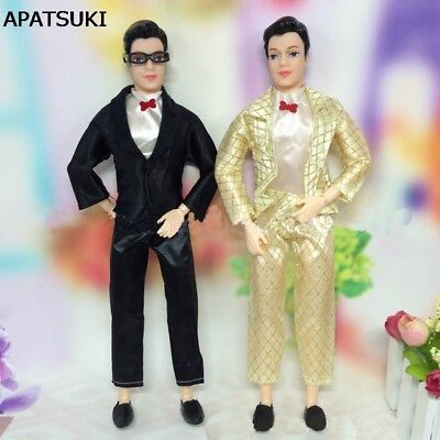 1set Doll Clothes For Ken Doll Men Business Suit With White Shirt For Boy Ken