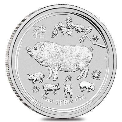 2019 Australia Lunar Year Of Pig 1/2 Oz Silver In Original Mint Capsule