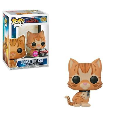 Captain Marvel - Goose the Cat Flocked Pop! Vinyl - FunKo Free Shipping!