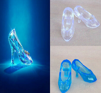 """10Pairs Fairy Tale CINDERELLA Crystal Shoes Doll Shoes For 11.5"""" Doll 1/6 Toy"""