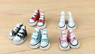"1Pair 3.5cm Canva Shoes For Blythe Dolls Causal Shoes For 11.5"" Doll Mini Shoes"