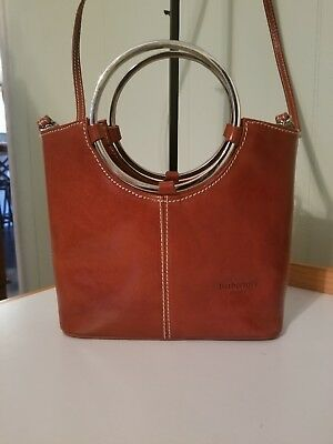 2995c75a3b63 BARBERINI S BROWN GLAZED Leather Purse - Made In Italy - Euc ...