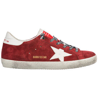 ae57f7ad500e4 Golden Goose Women s Shoes Suede Trainers Sneakers New Superstar Red B31