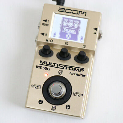 ZOOM MS-50G-I Gold Model (USED) Multi Stomp effecter Limited Japan S-259