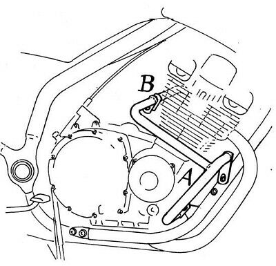 Cagiva Gran Canyon 900bj 1998 1999 Engine Protection Bar Blk By