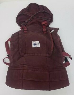 897f4c6cddc ERGO Baby Ergobaby Original Burgundy Classic Cotton Baby Carrier Up to 45 lb
