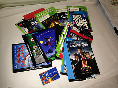 VTG BLOCKBUSTER VIDEO RENTAL GIFT CARD+30 MOVIE PROMO XBOX cover ART CARD POSTER