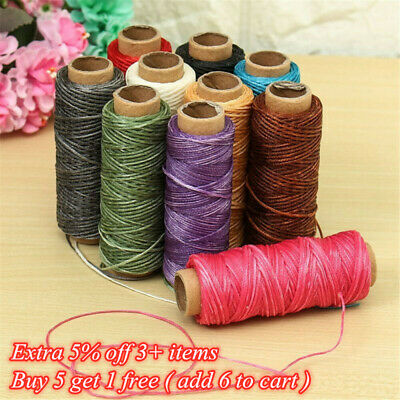 1mm Leather Sewing Flat Waxed Thread Wax String Hand Stitching Craft 30M 150D