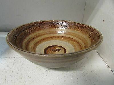 2 Australian Pottery Footed  Bowls With Lids Hand Thrown Studio Ware Retro