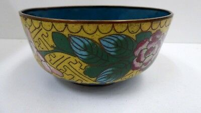 Antique Asian Cloisonne Enamel Bowl