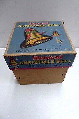 Vintage Original Musical Christmas Bell Decoration Collectors